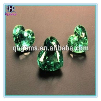 Stunning Heart shaped Light green Cubic Zirconia Stone