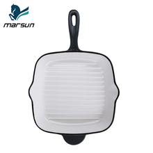 Hot New Products Factory Wholesale Price Pre-seasoned Nonstick Frying Grill Pan Enamel Cookware Square Skillet Cast Iron Pan