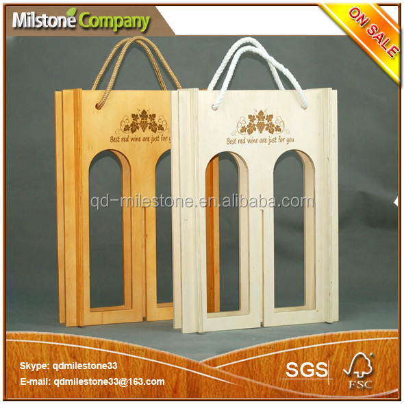 Wholesale China Customized Wooden Wine Boxes Wine Carrier