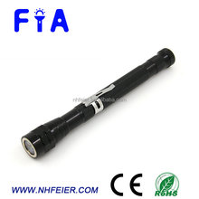 Factory hot selling telescopic aluminum LED flat magnetic flashlight