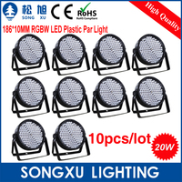 10pcs Factory Hot Sell 186X10MM RGBW LED Par Light Great Show Effect Plastic LED Par Cans Stage Light