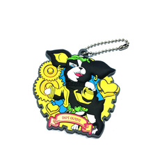 Soft rubber keychain pvc keychain 3d silicon key chain customized key ring
