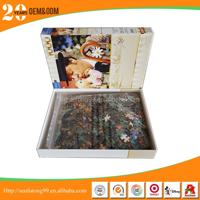 High quality custom 1000 pieces paper jigsaw puzzle