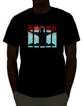 hottest ! flashing el shirt/tshirt el panel for Christmas/light led t shirt