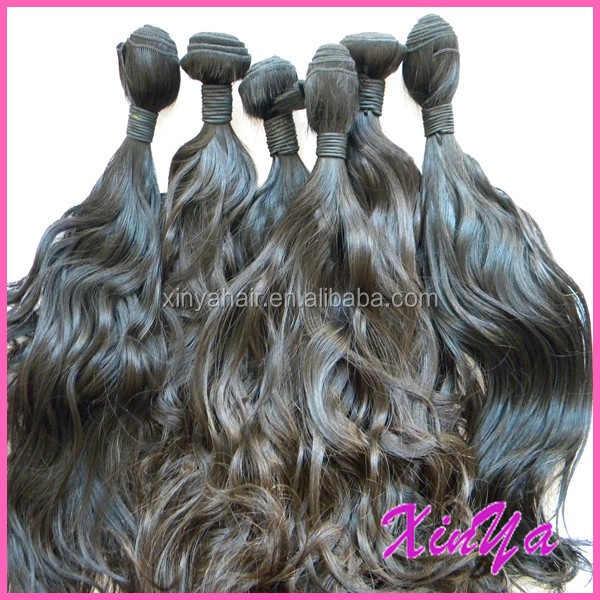High Quality 9A Virgin Hand tied Weft Natural black unprocessed original brazilian human hair