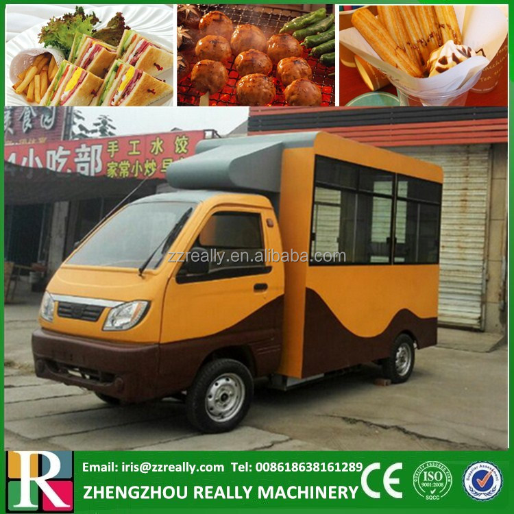 Popular Multi-function Mini Food Truck / Fast Food Cart / Hot Dog Electric Vending Van