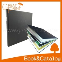 Big Size Hardcover Gloss Pages Debossed Painting Album Book
