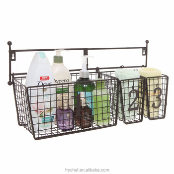 Bathroom Storage Basket for Shampoo, Cosmetics, Beauty Products