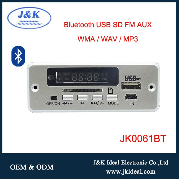 JK9003BT USB audio mp3/mp5 lecteur vidéo bluetooth fm décodeur module