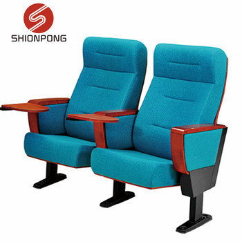 cinema hall seating auditorium chairs and desk with folding table
