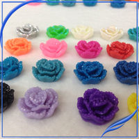 cheap price stock 20mm resin flower cabochon