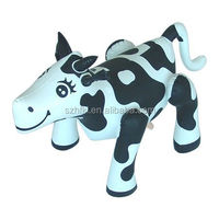 high quality inflatable black and white milking cows for sale