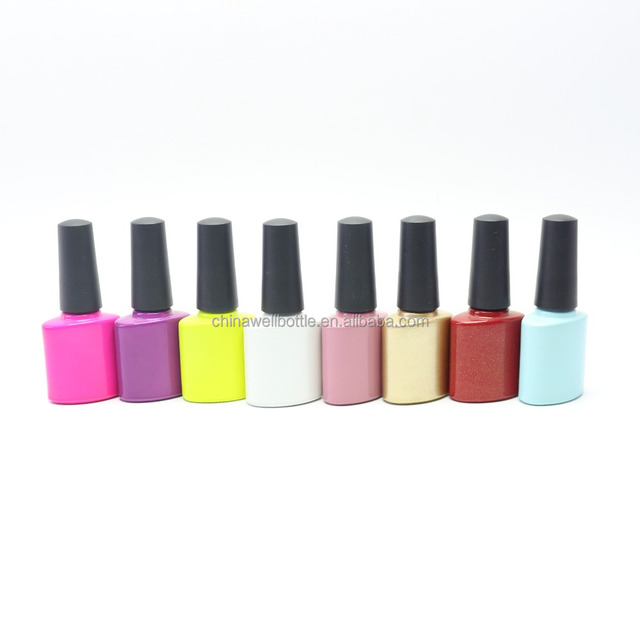 hexagonal empty nail polish bottle with cap and brush NB-065Z