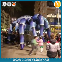 funny black inflatable spider model for halloween decoration