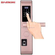 Home Security Fingerprint Keyless Electronic Code Digital Card Stainless Steel Door Lock
