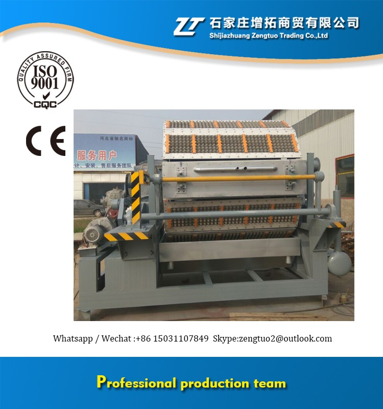 Rotary egg tray waste paper recycling pulp/plate forming high speed egg tray machine 6000pcs/hr