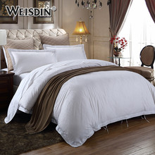 Comfortable luxury king size white jacquard 4pcs bedding set pillow case duvet cover hotel cotton sheet sets