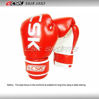 Synthetic leahter csk cheap boxing gloves