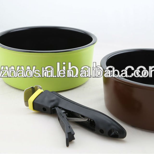 Wholesale Stewing Non-stick Cookware Sets with Removable Handles/frying pan with detachable handle