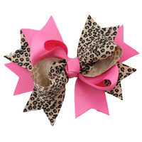 Factory directly wholesale 2015 new yiwu leopard print two layer bow headband