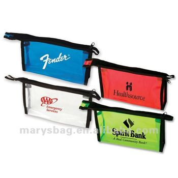 20 gauge PVC bag with black zipper and fabric edging