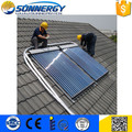 heat pipe vacuum solar water heating collector price with SRCC