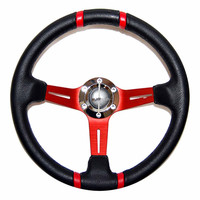 Hot selling custom Pu wood steering wheel with boss knob kit