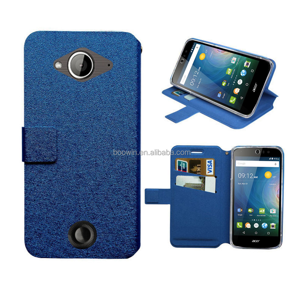 Blue leather case for acer liquid z530 case wallet leather case high quality with factory price