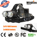 waterproof bicycle light 2xR2 600 lumens