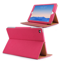 Wholesale low price flip cover folio leather case kickstand holder tablet case for ipad air 2