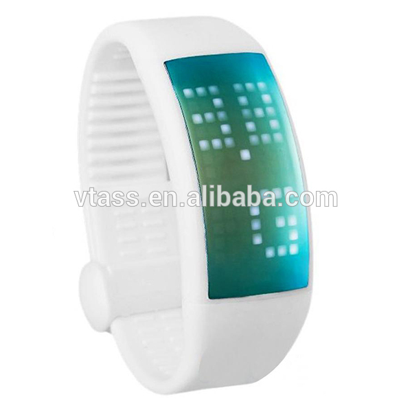 Futuristic Bluetooth Smartwatch with Exercise and Calories Tracker, Smart Wrist band for IOS and Android Smart Phones