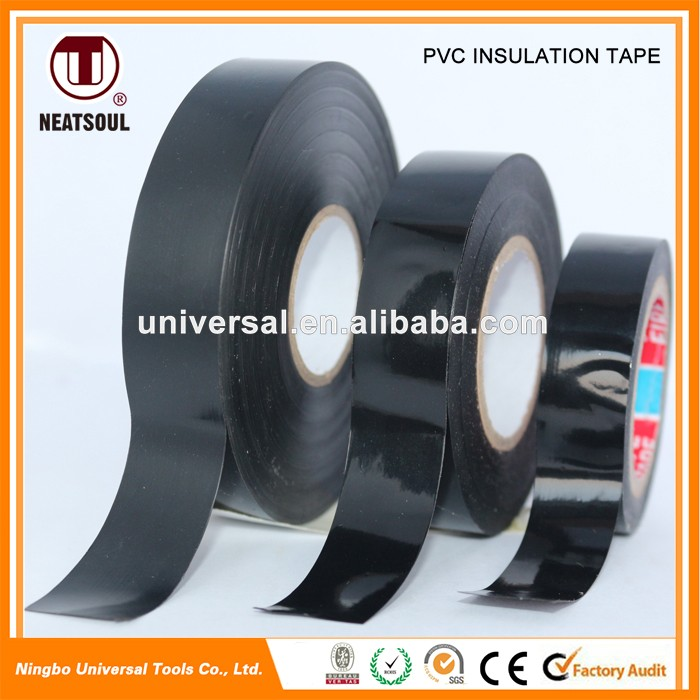 0.12 mm to 0.22 mm thickness colorful pvc insulation tape rolls for household