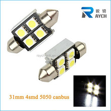 Good canbus 4smd 5050 error free c10w canbus car led bulb