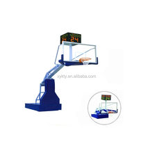 Electric hydraulic basketball hoop stand