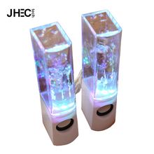 6W LED lights show music fountain vibration water dancing speaker wireless for Xmas gifts