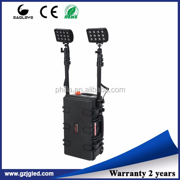 72w led portable Disaster rescue light, rechargeable mobile lighting tower