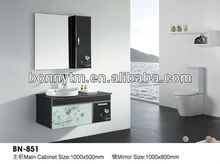 BN-851 modern design wall glass stainless steel bathroom cabinet 2012