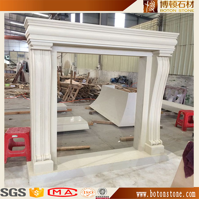 Modern Simple artificial stone Marble Fireplace Surround