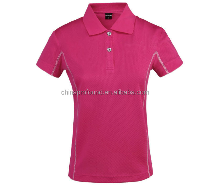 New style simple fashion purple polo shirt women dry fit polo