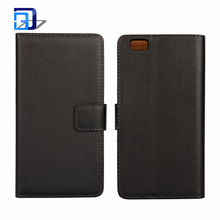 Hot Sale Genuine Leather Wallet Phone Case with ID Credit Card Slot Holder Flip Cover Stand for Huawei P8 Lite
