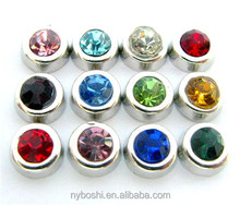 Birthstone Hot sales wholesale magnet clear glass round floating living charm locket