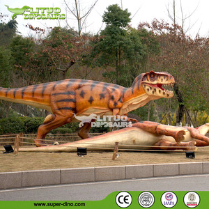 Playground Exhibition Life Size Animatronic Dinosaur Model