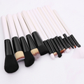 15Pcs Make Up Brush Set Cosmetic Kabuki Makeup Brushes with Wood Handle