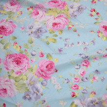 High quality stock wholesale cheap custom flower 100% cotton twill fabric printed fabric for bed sheets