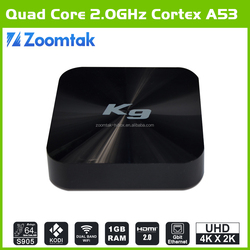 Zoomtak K9 Smart tv box for pakistan live tv channels
