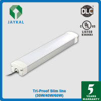 LED slim line vapor tight 30w -60w led tri-proof light with battery back up