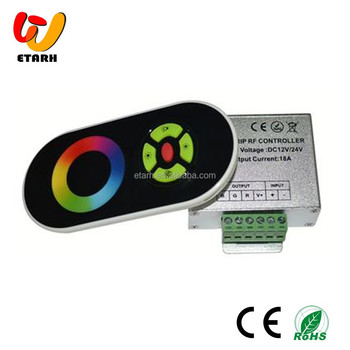 RF Wireless RGB Touch Controller,6A*3 Channel Output