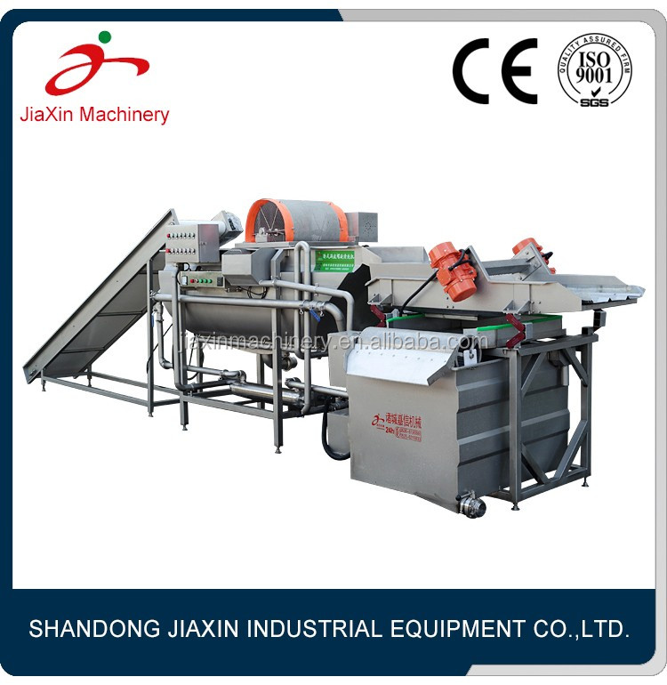 Stainless steel fruit and vegetable processing equipment line