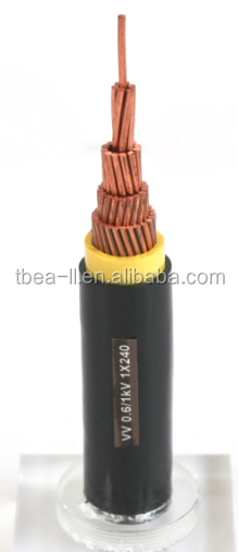 1X185 sq. mm Cu /PVC /PVC 600/1000V Power cable