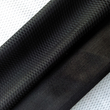 "Polyester fabric material shoe mesh single layer web warp knitting black color width 55"" weight 230g made in Jinjiang KS-6114"